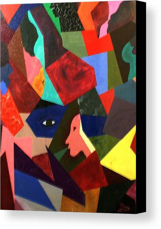 Geometric Art Canvas Print featuring the painting The Birth by Guillermo Mason