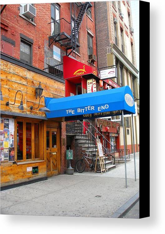 Bitter End Canvas Print featuring the photograph The Bitter End New York-greenwich Village by Candace Garcia