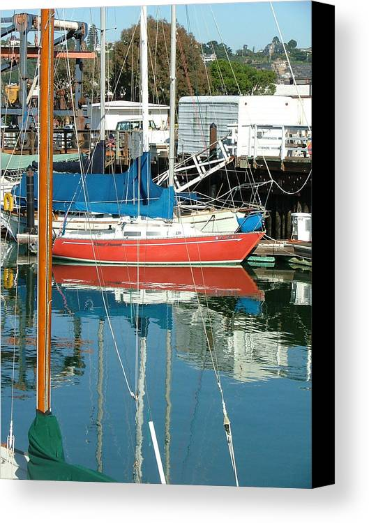 Seascape Canvas Print featuring the photograph The Boats Of Sausilito by Donna Thomas