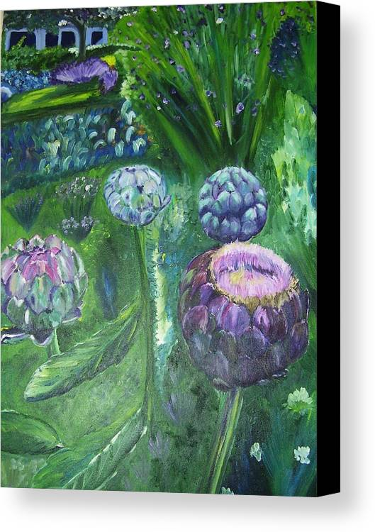 Vegetables Canvas Print featuring the painting The Garden by Murielle Hebert