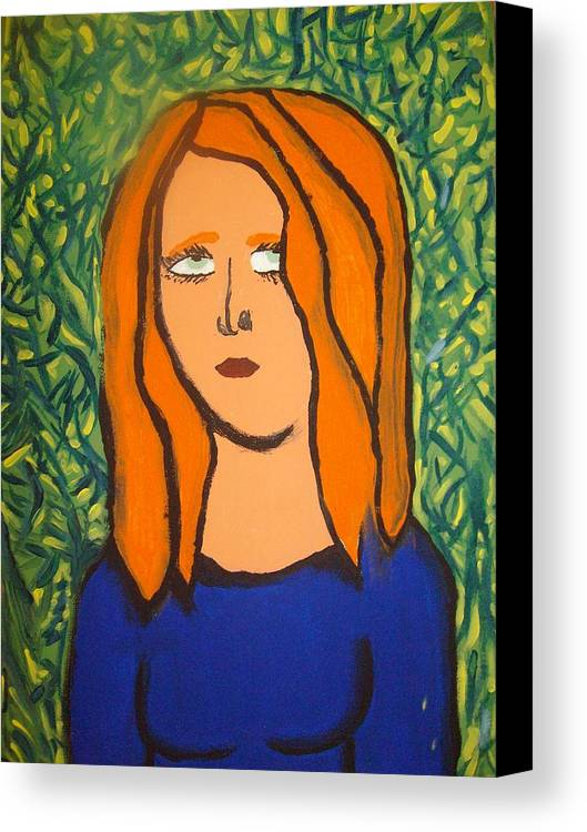 Girl Canvas Print featuring the painting The Jungle Of Dispare by Samantha Gilbert