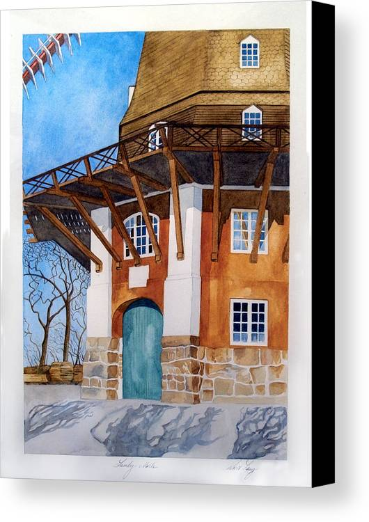 Windmill Canvas Print featuring the painting The Lumby Mill by Robert Lacy