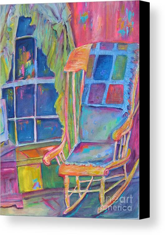 Chair Canvas Print Featuring The Painting The Rocking Chair By Marlene  Robbins