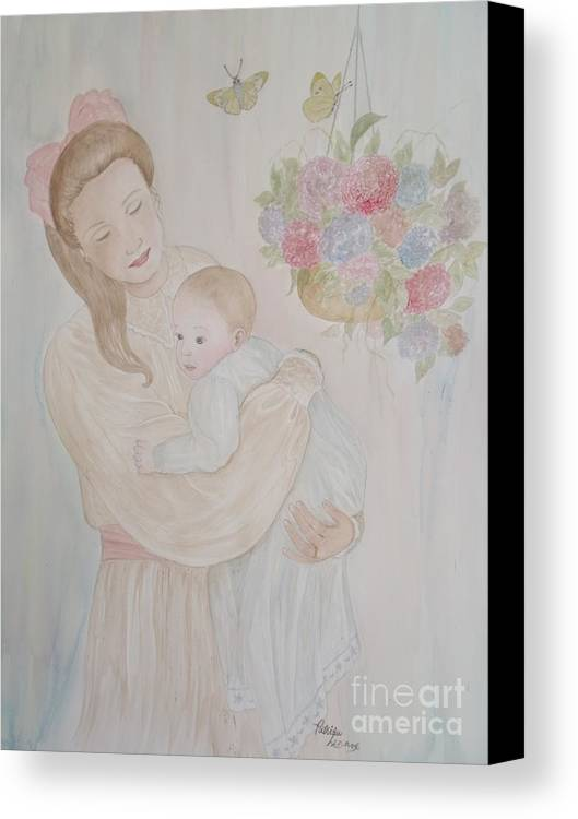 Baby Canvas Print featuring the painting The Strongest Bond by Patti Lennox