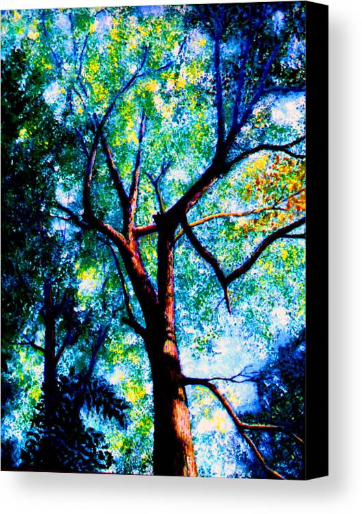 Landscape Canvas Print featuring the painting The Tree by Stan Hamilton
