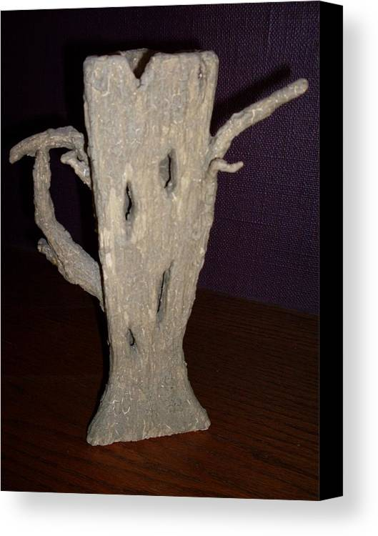 Teapot Tree Abstract Sculpture Canvas Print featuring the sculpture Treepot No.2 by Sally Van Driest