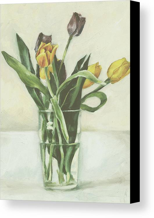 Tulips Canvas Print featuring the painting Tulips by Sarah Madsen