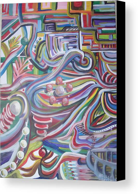 Abstract Canvas Print featuring the painting Twisted by Hollie Leffel