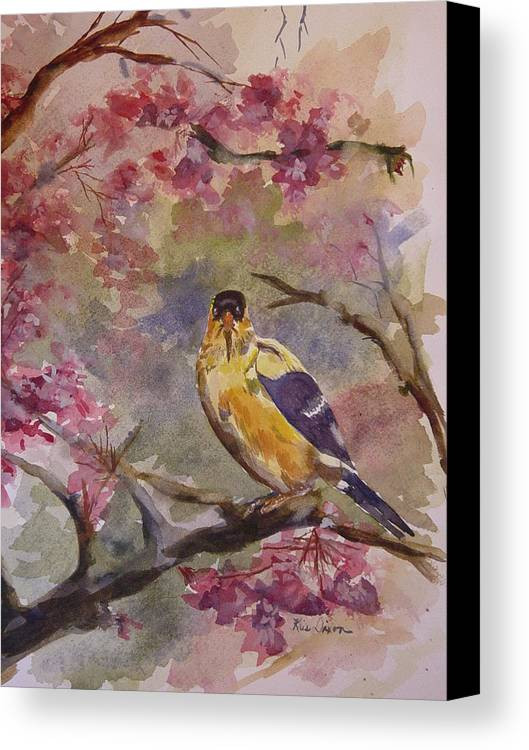 Landscape Canvas Print featuring the painting Unexpected Visitor by Kris Dixon