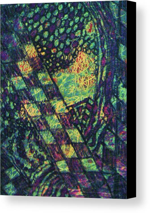 Stars Canvas Print featuring the painting Up In The Sky by Gayland Morris