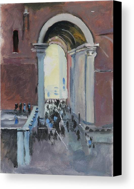 Rome Canvas Print featuring the painting Vatican by Robert Bissett