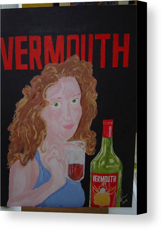 Acrylic Canvas Print featuring the painting Vermouth by Raymond Nash