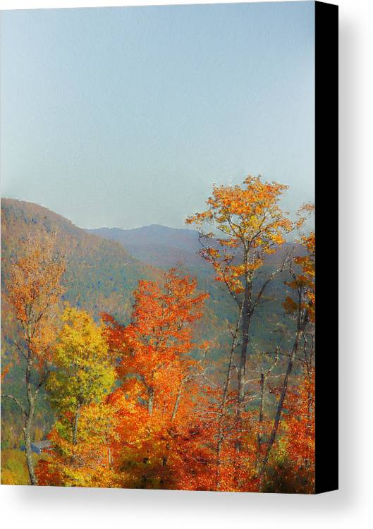 Sunday River Canvas Print featuring the photograph View From Sunday River by Rockstar Artworks