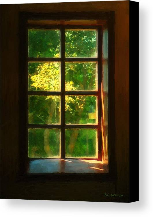 Autumn Canvas Print featuring the painting View From The Orwell Corner Church by RC DeWinter
