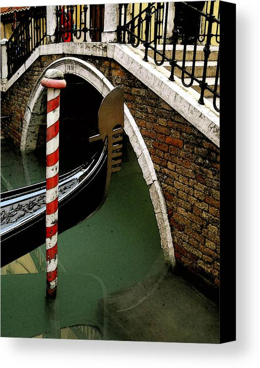 Italy Canvas Print featuring the photograph Visions Of Venice 1. by Nancy Bradley