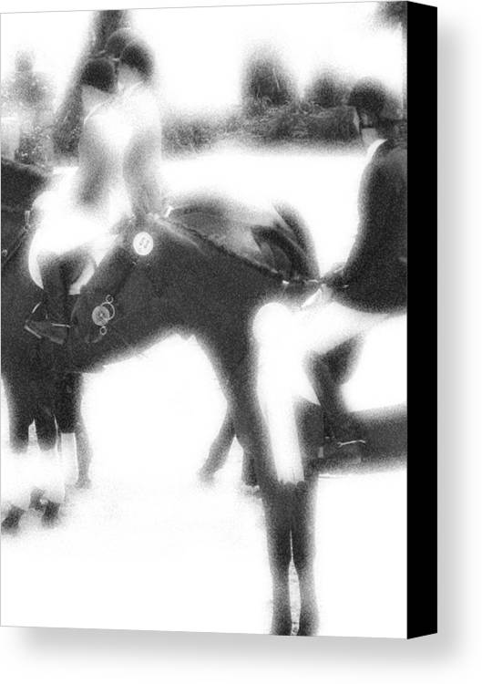 Horse Canvas Print featuring the photograph Waiting The Call by Donna Thomas