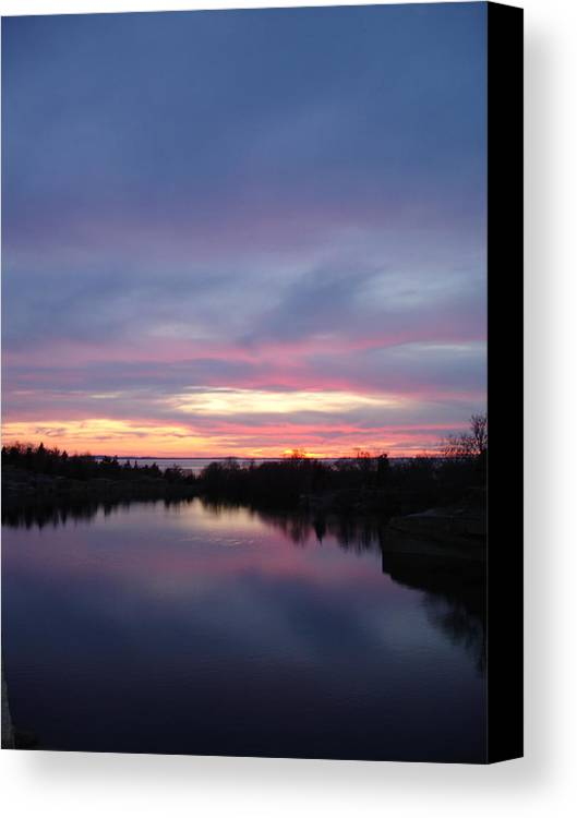 Landscape Canvas Print featuring the photograph Water To Water by Chad Natti