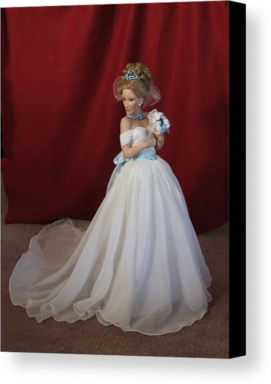 Fantasy Canvas Print featuring the photograph Wedding Gown by Chuck Shafer