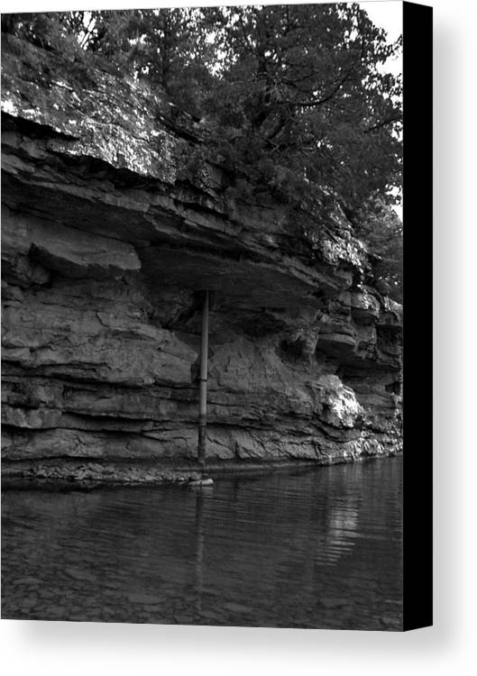Canvas Print featuring the photograph Westforkwhiteriver-bw by Curtis J Neeley Jr