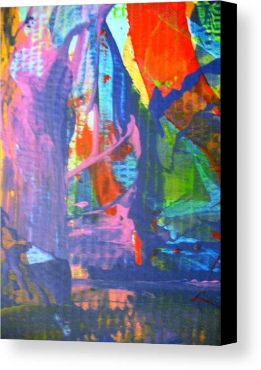Abstract Canvas Print featuring the painting When A Lone Tree Is Felled Into A Forest Pool Does Anybody Hear Its Scream by Bruce Combs - REACH BEYOND