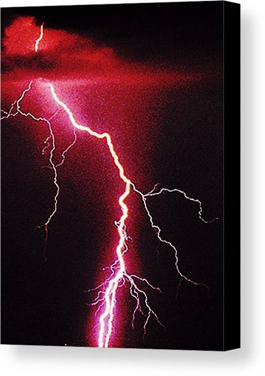 Landscape Canvas Print featuring the photograph White Lightning by Vicky Brago-Mitchell