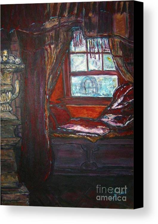 Windowseat Canvas Print featuring the painting Wilhelmina's Windowseat by Helena Bebirian