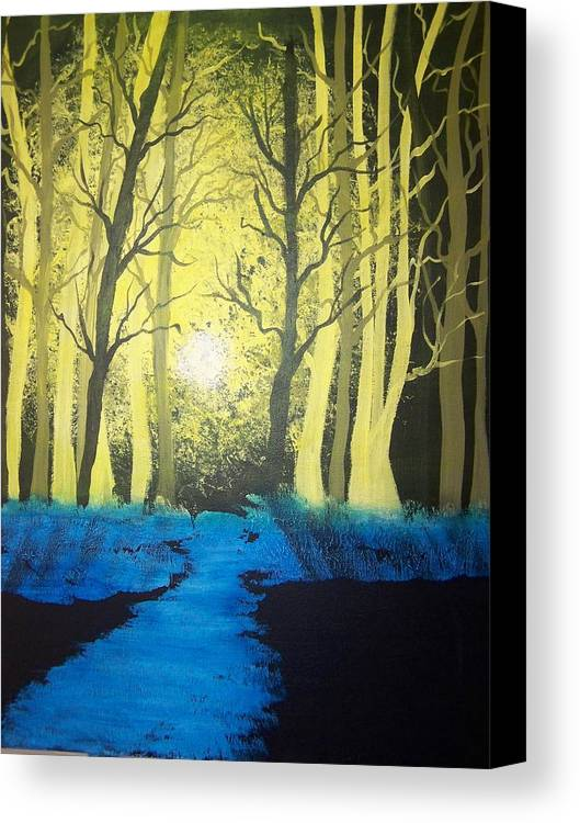 Forest Canvas Print featuring the painting You Cant See The Forest For The Trees by Laurie Kidd