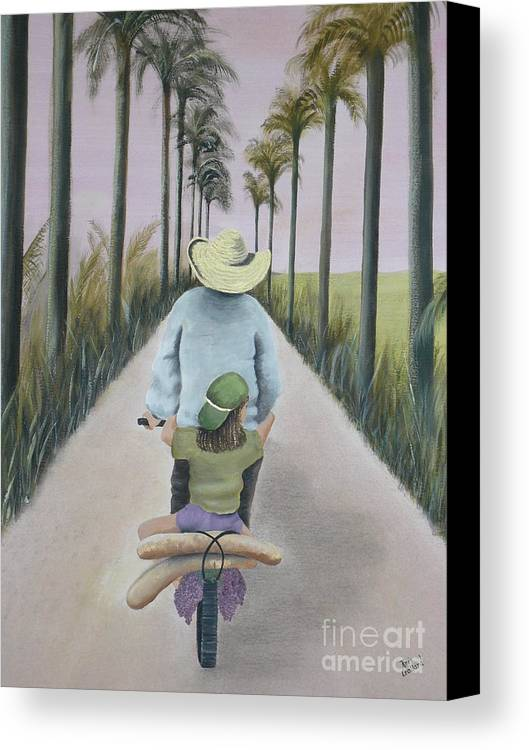 Tropical Canvas Print featuring the painting You're The Best by Kris Crollard