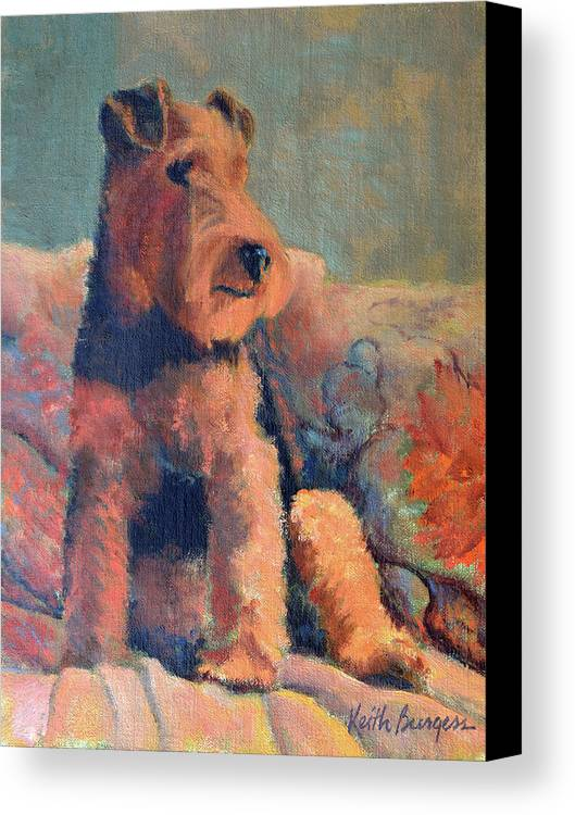 Pet Canvas Print featuring the painting Zuzu by Keith Burgess