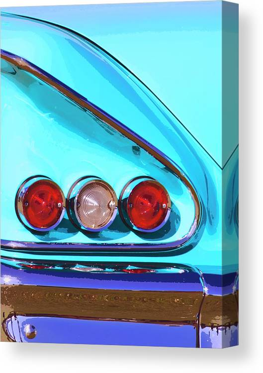 Palm Springs Canvas Print featuring the photograph 1958 Impala Palm Springs by William Dey