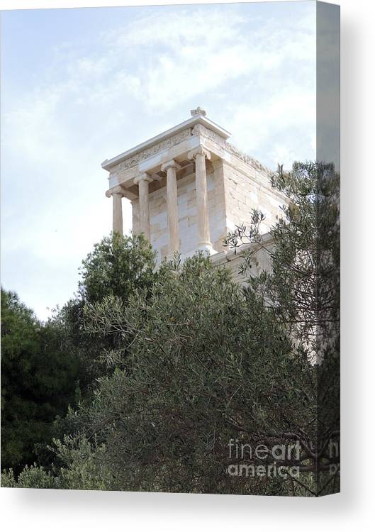 Canvas Print featuring the photograph Acropolis View by Paul Sandilands