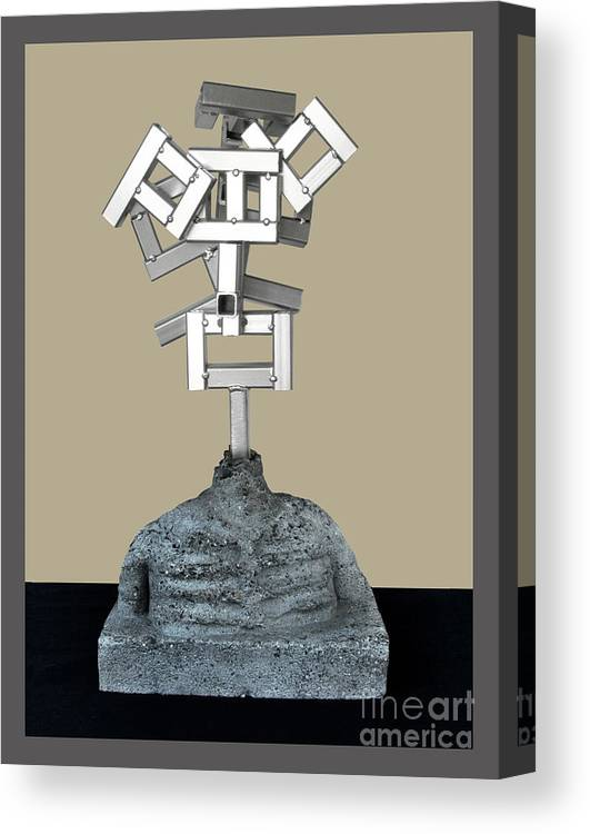 Identity Canvas Print featuring the sculpture Identity Crisis 03 by Peter Piatt