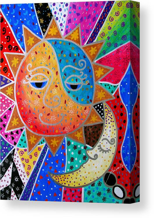 Abstract Sun And Moon Canvas Print Canvas Art By Pristine Cartera