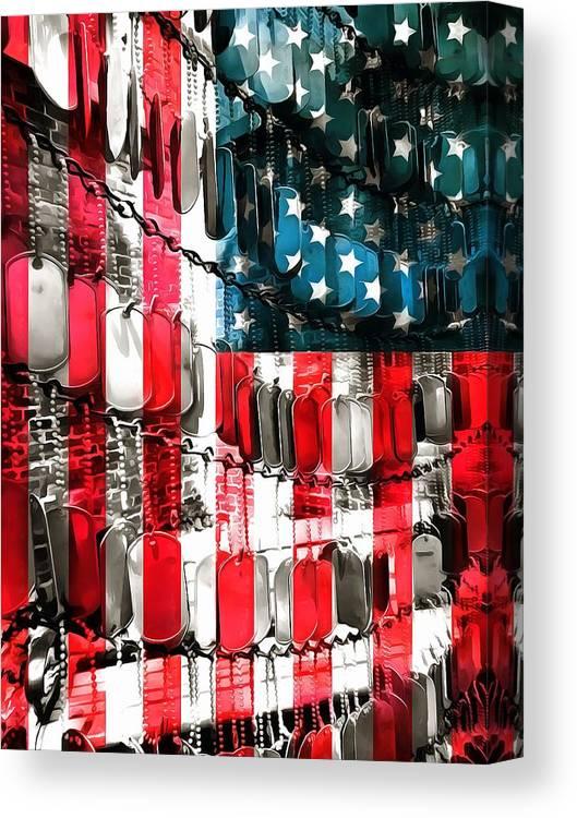 American Heroes Canvas Print featuring the digital art American Heroes by Dan Sproul