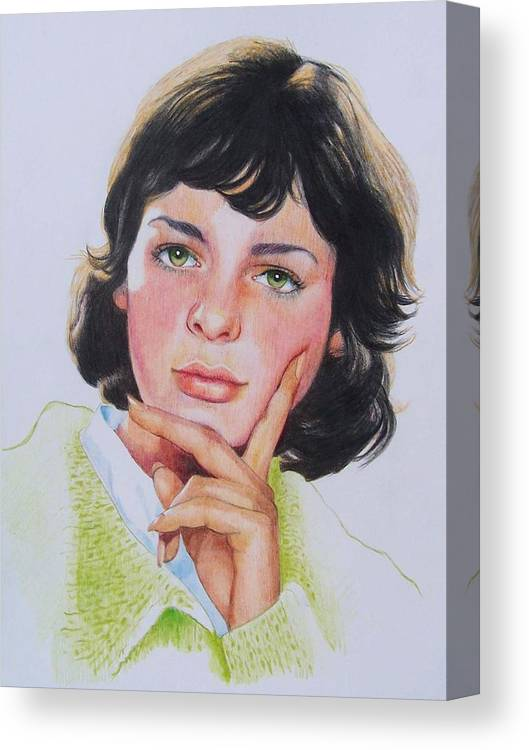 Portrait Canvas Print featuring the mixed media Ariane by Constance Drescher