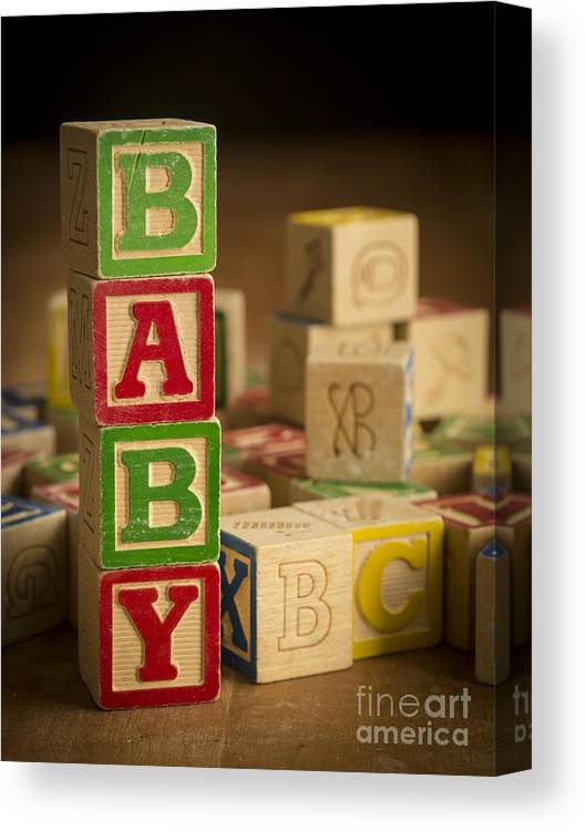 Blocks Canvas Print featuring the photograph Baby Blocks by Edward Fielding