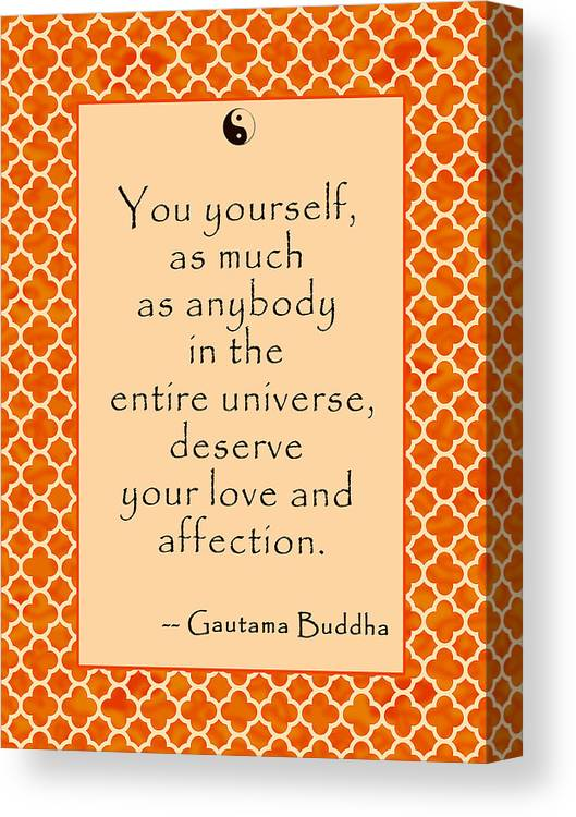 Buddha Quote Love And Affection Canvas Print Canvas Art By