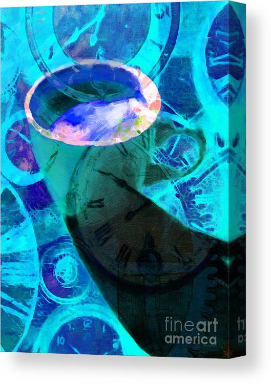 Coffee Canvas Print featuring the photograph Coffee Time My Time 5d24472p168 by Wingsdomain Art and Photography