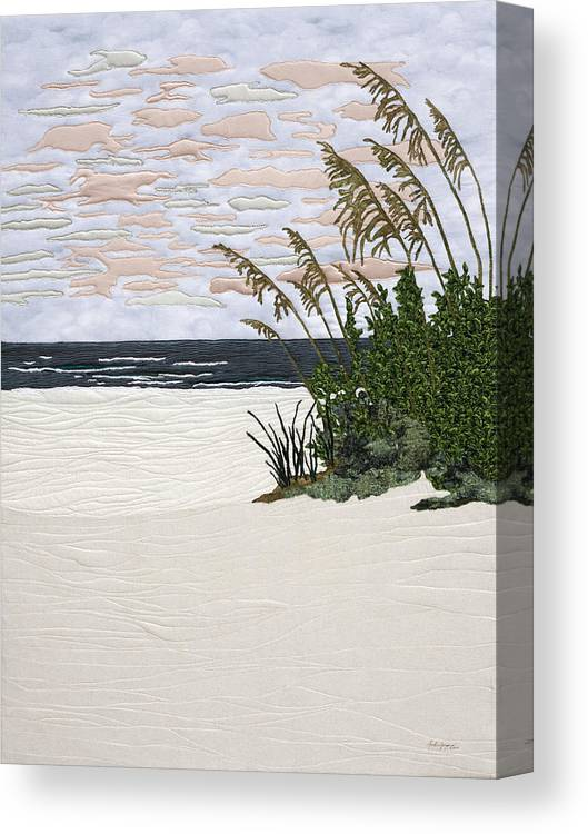 Sea Canvas Print featuring the painting Drawn To The Sea II by Anita Jacques