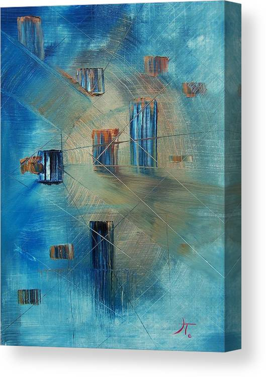 Abstract Canvas Print featuring the painting Dreamscape #1 by John Terrell
