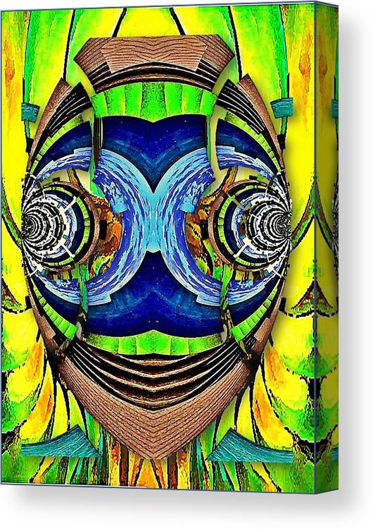 Face Imagination Canvas Print featuring the digital art Face Imagination by Prosper Abitbol
