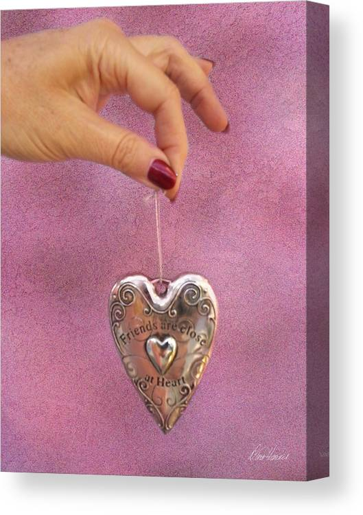 Valentines Day Canvas Print featuring the photograph Friends Are Close At Heart by Diana Haronis