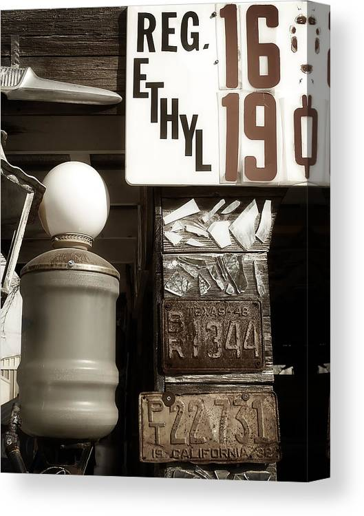 Gas Canvas Print featuring the photograph Gas Prices by Monica Havelka