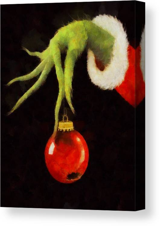 Christmas Grinch.How The Grinch Stole Christmas Canvas Print