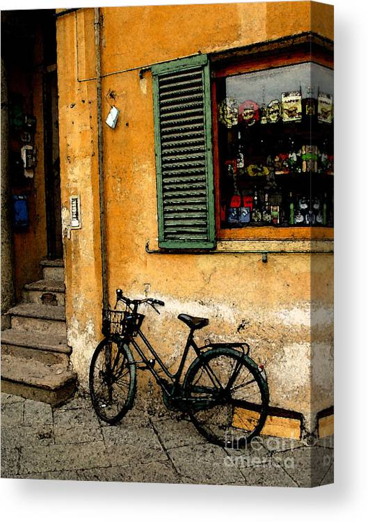 Italy Canvas Print featuring the photograph Italian Sidewalk by Nancy Bradley