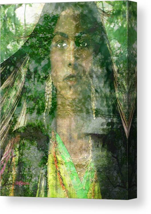 American Indian Canvas Print featuring the digital art Mistress Of The Wind by Seth Weaver