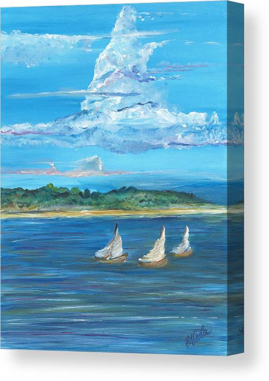 Island Canvas Print featuring the painting Perfection by Bev Veals