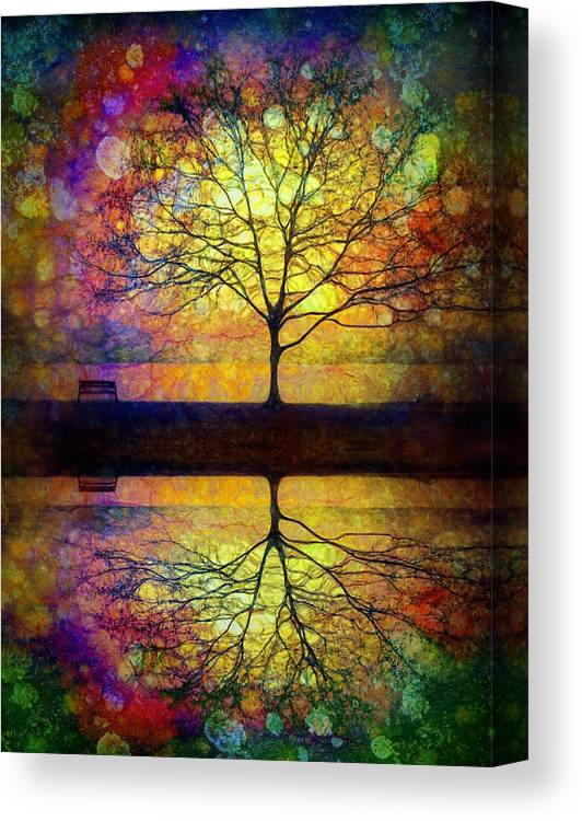 Trees Canvas Print featuring the photograph Reflected Dreams by Tara Turner