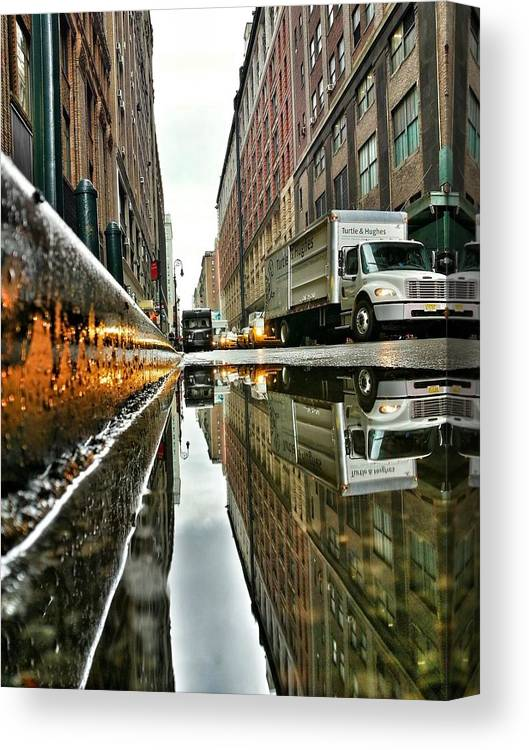 Lights Canvas Print featuring the photograph Reflecting Nyc by Shmuli Evers