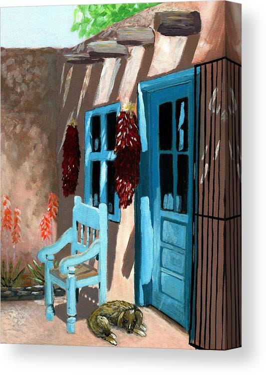 Canvas Santa Fe >> Santa Fe Courtyard Canvas Print Canvas Art By Karyn Robinson